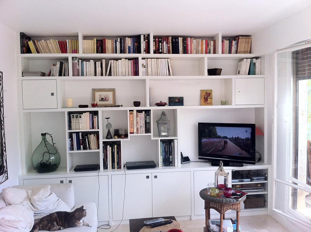 Bilbioth que sur mesure - Bibliotheque avec portes ...