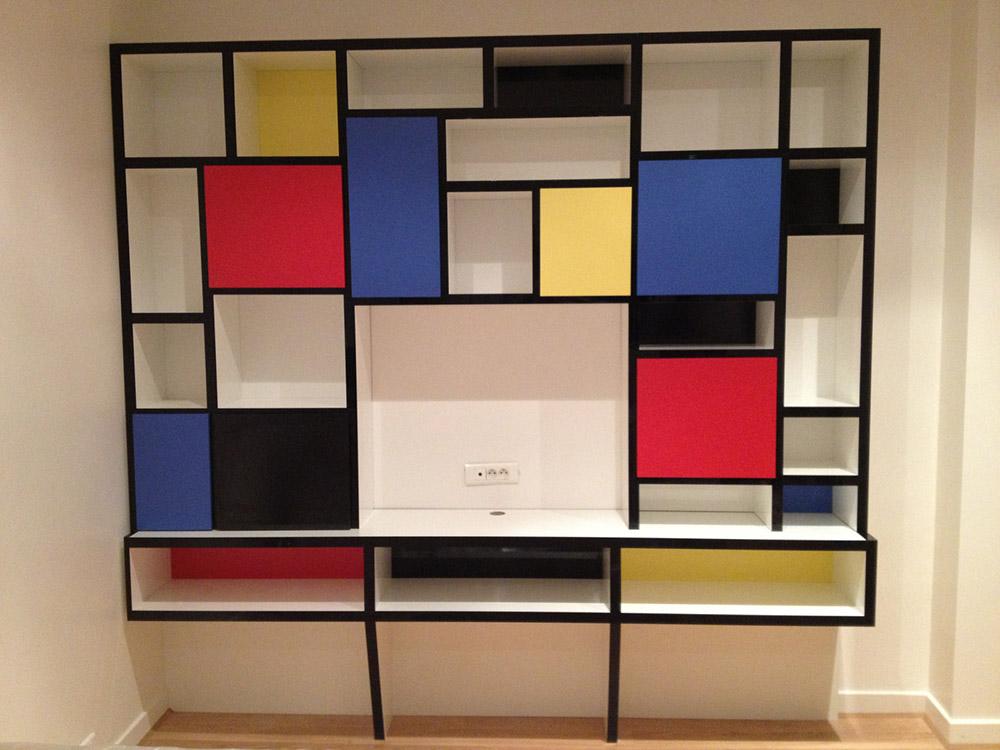 meuble mondrian perfect systme dtagres with meuble mondrian awesome voir dans la boutique with. Black Bedroom Furniture Sets. Home Design Ideas